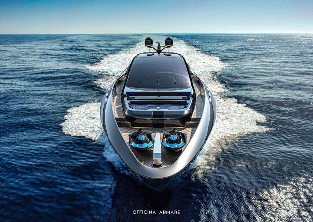 Siêu du thuyền BadGal thiết kế táo bạo và mạnh mẽ của Officina Armare ảnh 1