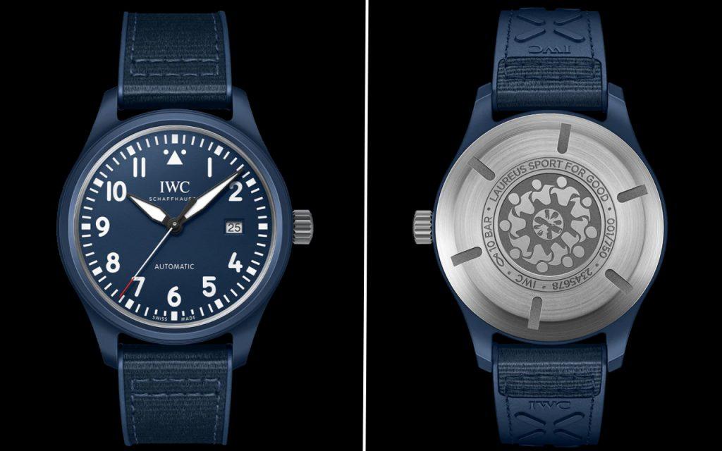 IWC ra mắt đồng hồ Pilots gốm màu xanh lam đầu tiên cho Laureus Sport for Good ảnh 2