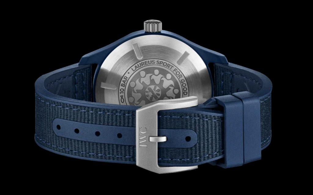 IWC ra mắt đồng hồ Pilots gốm màu xanh lam đầu tiên cho Laureus Sport for Good ảnh 4